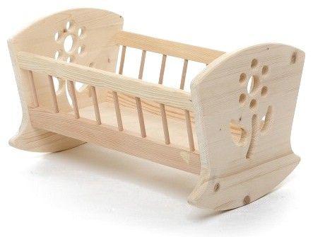 Dřevěná kolíbka pro panenky