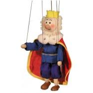 Dřevěná loutka Král