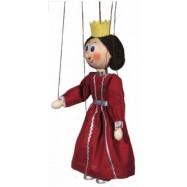 Dřevěná loutka Královna
