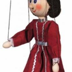 Marionetka drewniana Królowa II, 20 cm
