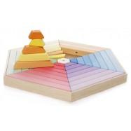 Velká dřevěná stavebnice šestihran