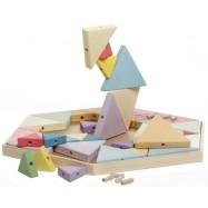 Dřevěná stavebnice trojúhelníky