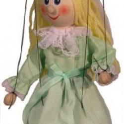 Marionetka drewniana Wróżka, 20 cm