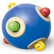Dřevěné chrastítko míč Píkabú