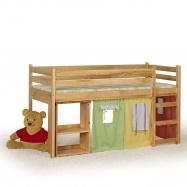 Halmar Patrová postel s psacím stolem a matrací EMI - olše