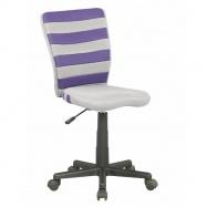 Halmar Dětská otočná židle FUEGO fialová-šedá