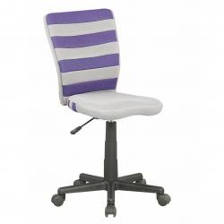 Halmar Krzesło do biurka FUEGO fioletowo-popielate