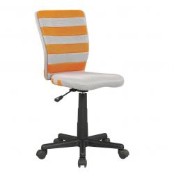 Halmar Dětská otočná židle FUEGO oranžovo-šedá