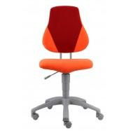 Rostoucí židle Fuxo Suedine oranžovo-vínová 46/29 - 002