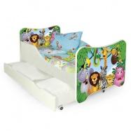 Halmar Detská posteľ HAPPY JUNGLE so zásuvkami