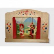 Drevené bábkové divadlo pro bábky o veľkosti 35 - 50 cm