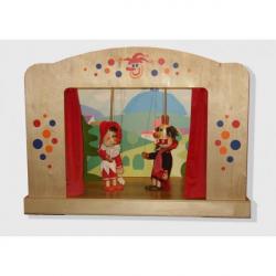 Dřevěné loutkové divadlo pro loutky o velikosti 35 - 50 cm
