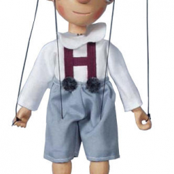 Marionetka drewniana Hurvinek I, 20 cm