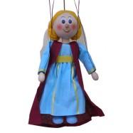 Drevená loutka Středoveká princezna