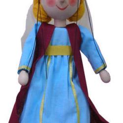 Dřevěná loutka Středověká princezna