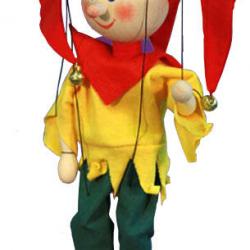 Marionetka drewniana Średniowieczny Kaszparek, 20 cm