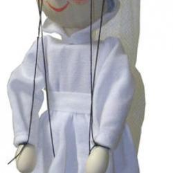 Drevená loutka Biela paní