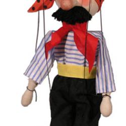 Marionetka drewniana Pirat, 20 cm