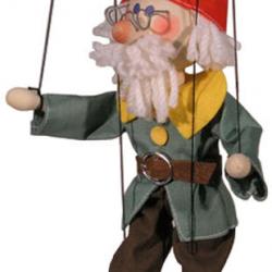 Marionetka drewniana Krasnal VI, 20 cm Profa
