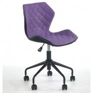Halmar Dětská otočná židle MATRIX černo-fialová