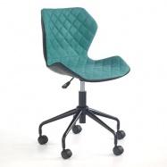 Halmar Dětská otočná židle MATRIX černo-tyrkysová