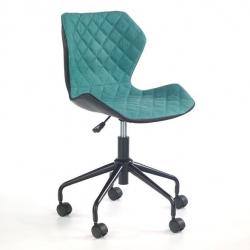 Halmar stolová stolička MATRIX čierne-tyrkysová