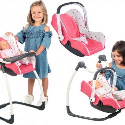 3v1 Autosedačka a stolička MC&Q pre bábiky