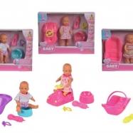 Lalka Mini New Born Baby - Zestaw, 3 rodzaje