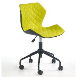 Halmar Dětská otočná židle MATRIX černo-zelená