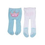 Baby Annabell - Rajstopki 2 pary błekitne i białe 792261, 46 cm