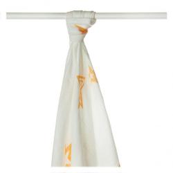 Bambusové plienky XKKO BMB Orange Stars 90x100cm, 1ks