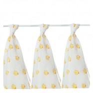 Bawełniane pieluszki dla dzieci KIKKO 3 szt 80x80 cm kaczka