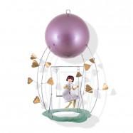 Závěsná dekorace - Dívka na houpačce
