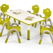 Halmar Dětský stolek SIMBA obdélník zelená