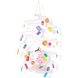 Závěsná dekorace spirála - Dívka s lucernami