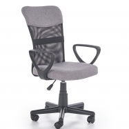 Dětská otočná židle Halmar TIMMY šedá-černá