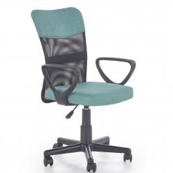 Dětská otočná židle Halmar TIMMY tyrkysová-černá