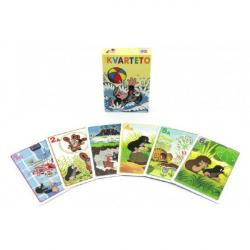 Kvarteto Krtek 1 spoločenská hra - karty v papierovej krabičke 6x9cm