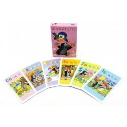 Kvarteto Krtko a sýkorka spoločenská hra - karty v papierovej krabičke 6x9cm