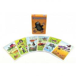 Kvarteto Krtek 2 spoločenská hra - karty v papierovej krabičke 6x9cm
