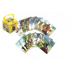 Pexeso Krtek papierové spoločenská hra 32 obrázkových dvojíc v papierovej krabičke