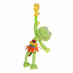 Dětská plyšová hračka s vibrací Akuku žabka