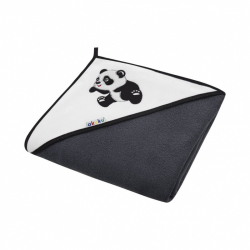 Detská osuška 100x100 Akuku čierna s pandou