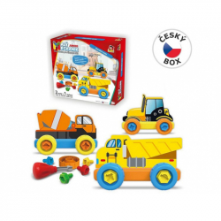 08304 - Malý mechanik plastový Junior - stavebné autá