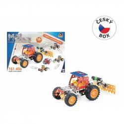 Malý mechanik - traktor s príslušenstvom 4 v 1, 161 ks, 24 x 34 x 4 cm