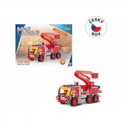 Malý mechanik - hasičské auto s plošinou, 327 ks