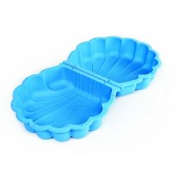Pískoviště mušle s víkem modré