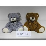 Plyšový medvídek hnědý, šedý 38 cm