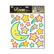 Měsíc a hvězdy nalepovací - svítící ve tmě