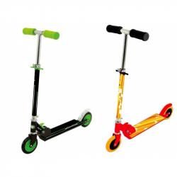 Dětská koloběžka - zelená / oranžová